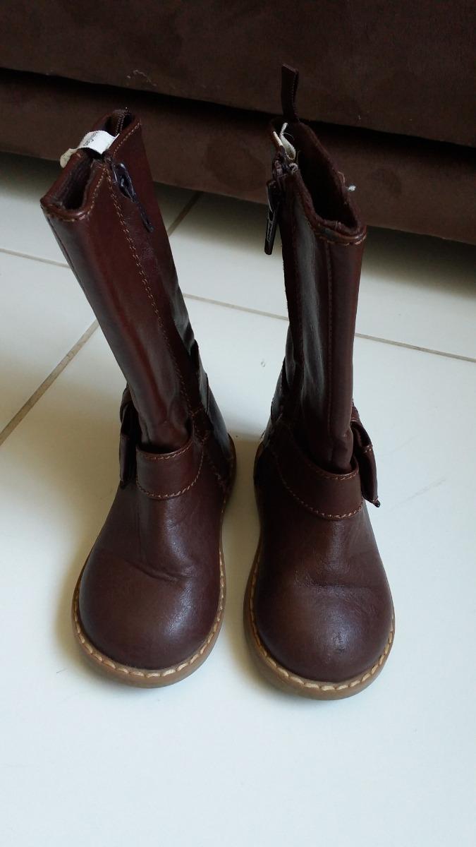 95130e4ca2bb0 bota infantil feminina de couro legítimo da baby gap. Carregando zoom.