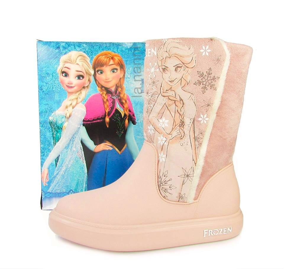 7fb905fe0c5 Bota Infantil Feminina Disney Frozen Snow Rosa Menina Elsa
