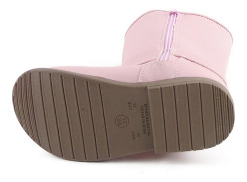 bota infantil feminina menina coturno ortobaby 4508 oferta