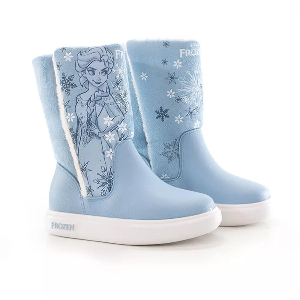 2991f9f290f bota infantil frozen pelúcia forrada lã grendene kids azul. Carregando zoom.