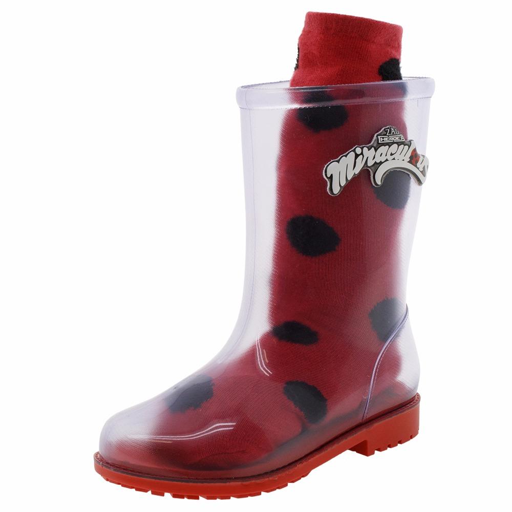 b5a11ac9d05 bota infantil ladybug grendene kids miraculous com meias. Carregando zoom.