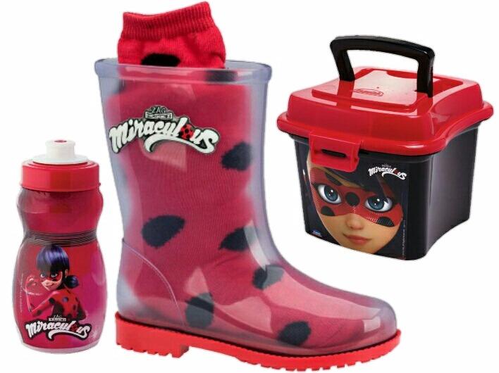 bdd469a0881 Bota Infantil Ladybug Grendene Miraculous Maletinha Squeeze - R  121 ...