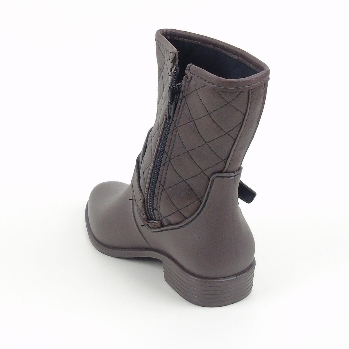 77efb74cdb0 bota infantil luelua feminina na cor café 9600-35. Carregando zoom.