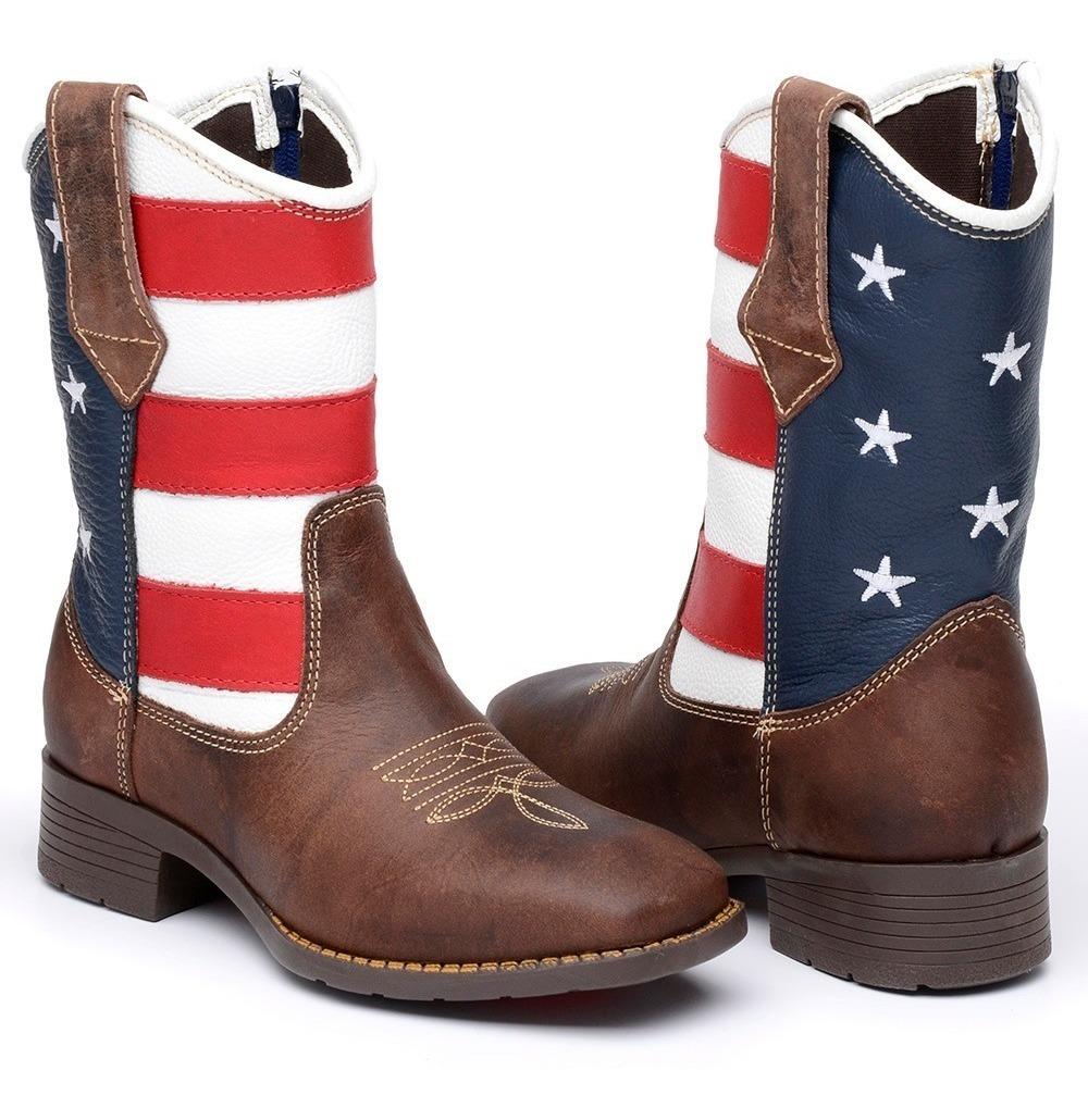 de0f93780 bota infantil masculina texana couro legítimo usa americana. Carregando  zoom.