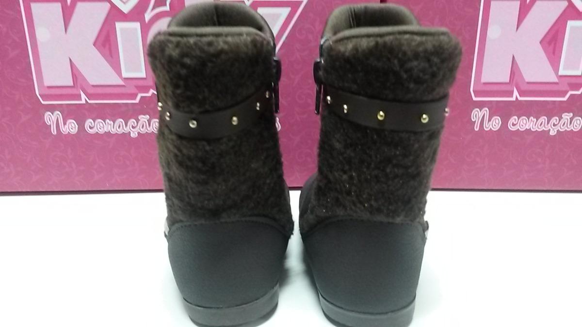 0ab54aa7dda bota infantil menina marrom tamanhos 18 ao 24 - kidy - 20091. Carregando  zoom.