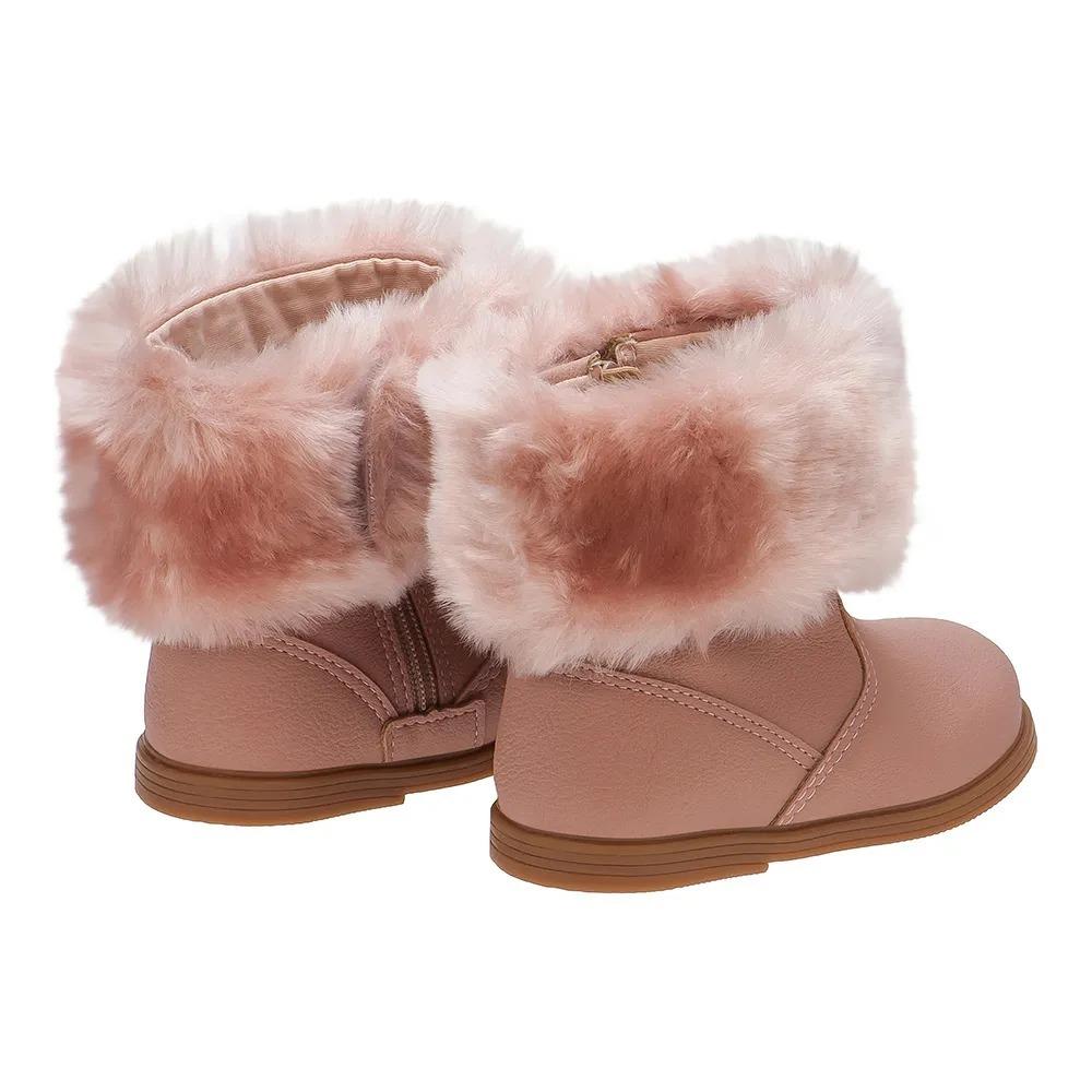 748a20a3059f63 Bota Infantil Miss Fashion Rosa Klin 168040