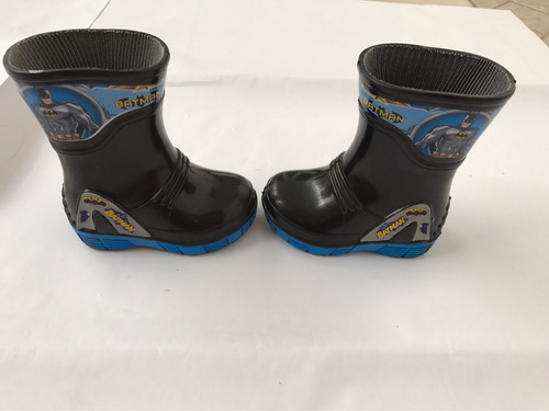 bota lluvia plástico batman negras con azul niño 12 disney