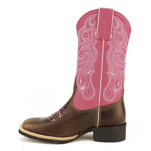 bota made in lida feminina western fóssil tabaco pink 3110
