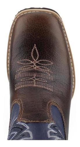 bota made in lida masculina infantil tabaco azul 3003