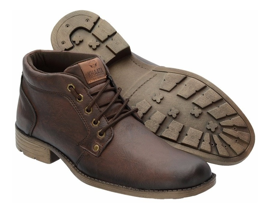 06153bec71 bota masculina baixa sapato casual coturno khaata 100-i. Carregando zoom.