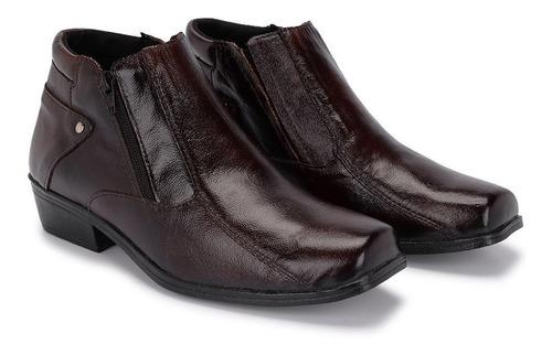 bota masculina botina couro country social schiareli