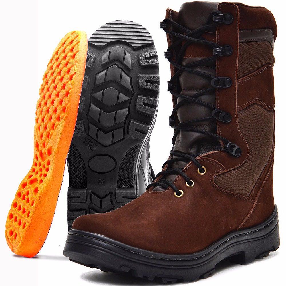 286f3b69e1 bota masculina cano alto em couro boa e barata para trilha. Carregando zoom.