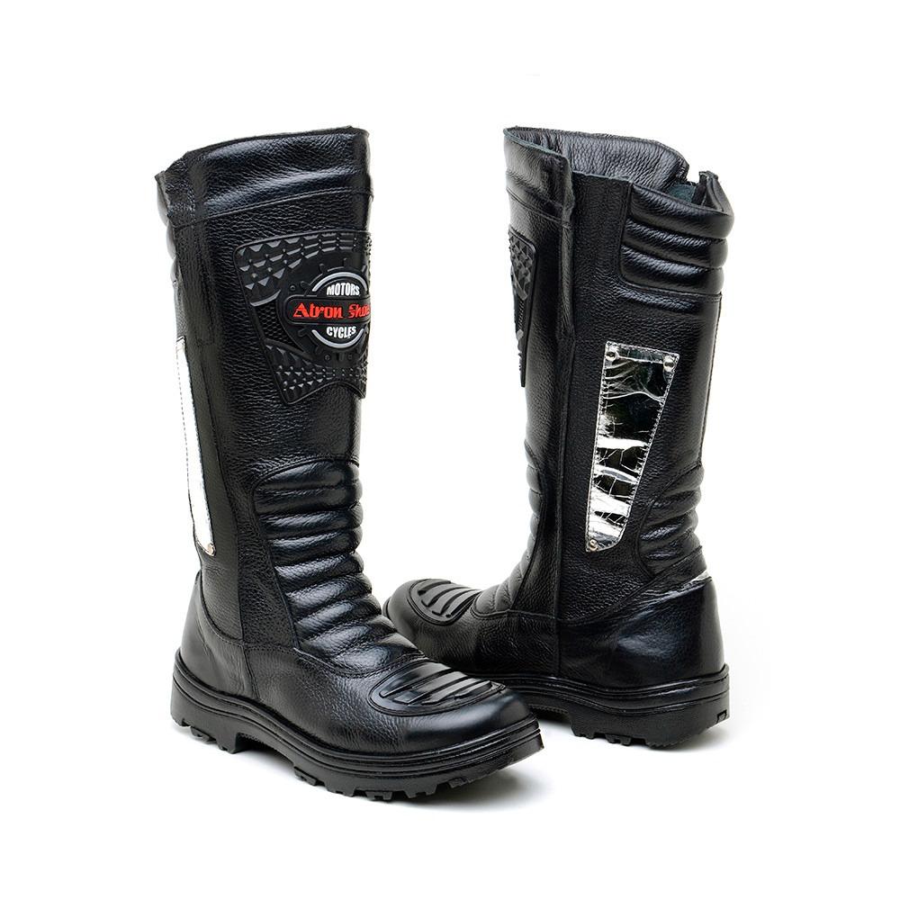 078839ff0a bota masculina cano alto motociclista semi impermeável couro. Carregando  zoom.