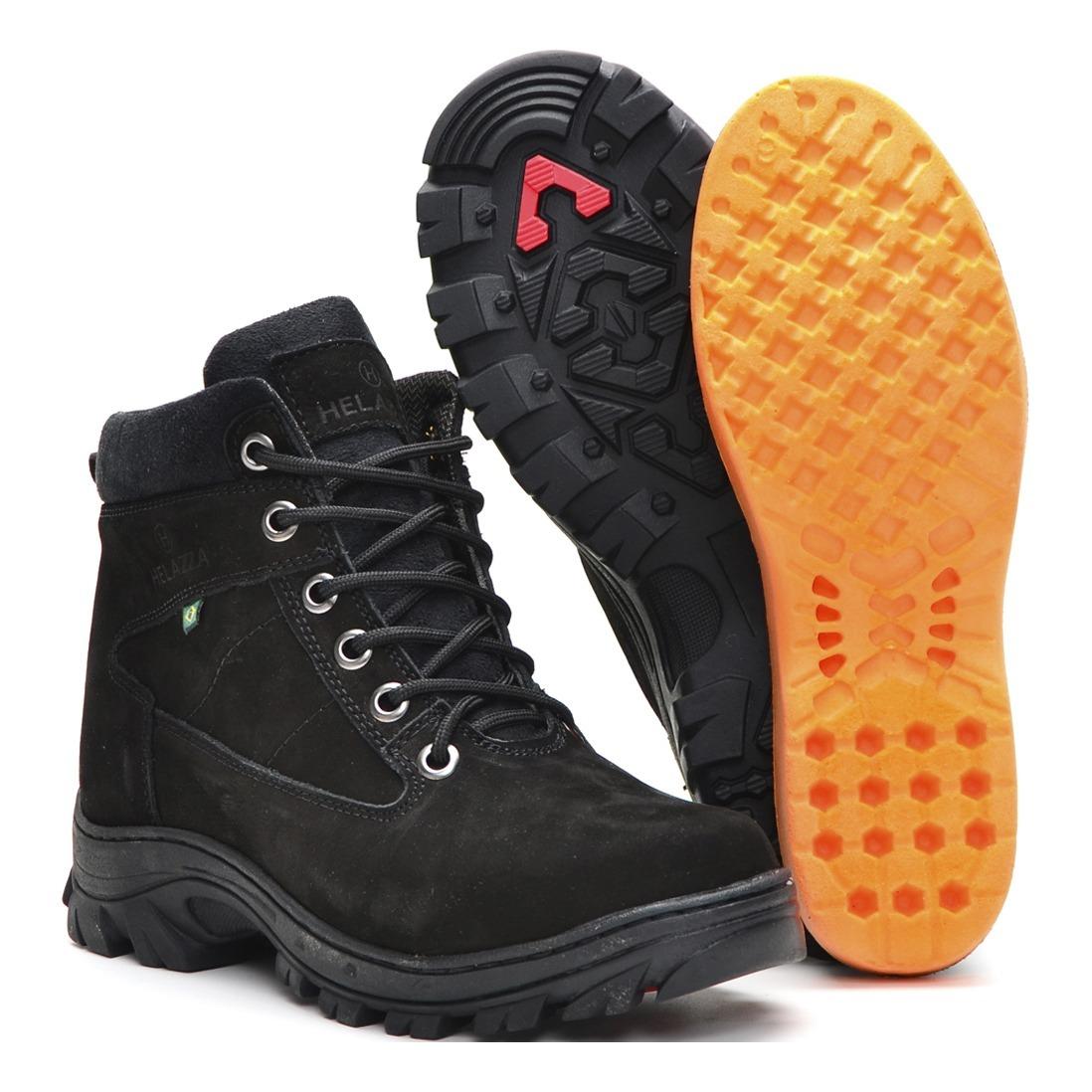 56d6cff018c43 bota masculina casual cano curto couro preta e marrom r500. Carregando zoom.