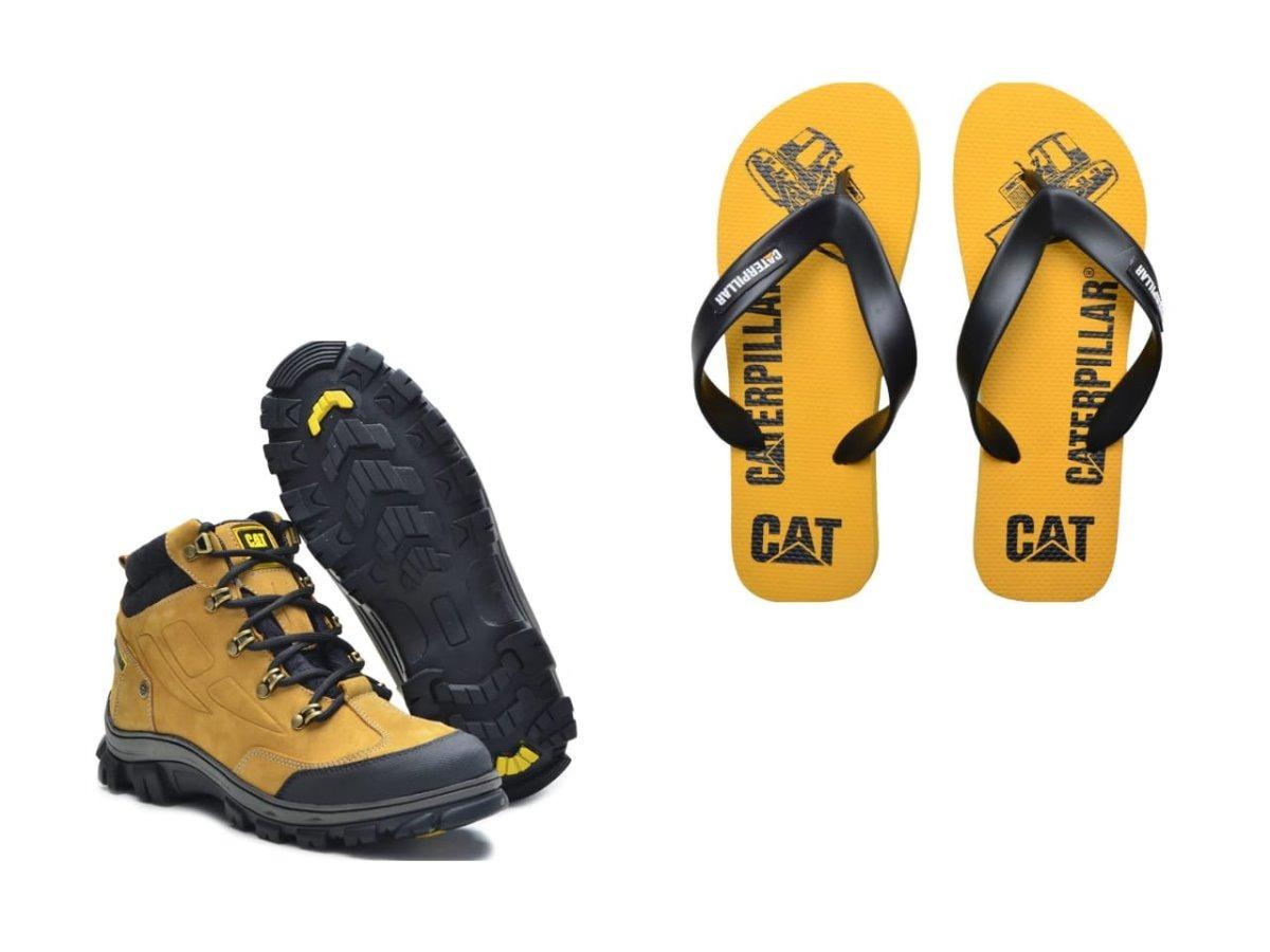 bac9450833 bota masculina caterpillar original em couro +chinela cat! Carregando zoom.