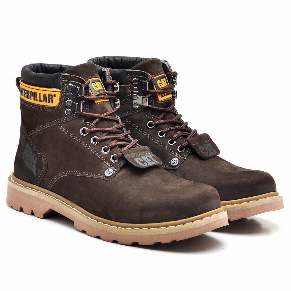 dc4f0e64a5 bota masculina caterpillar sapato em couro original coturno. Carregando  zoom.