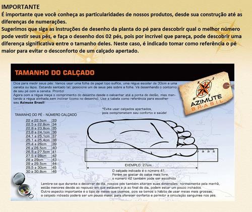bota masculina coturno azimute brasil couro ref: pedra