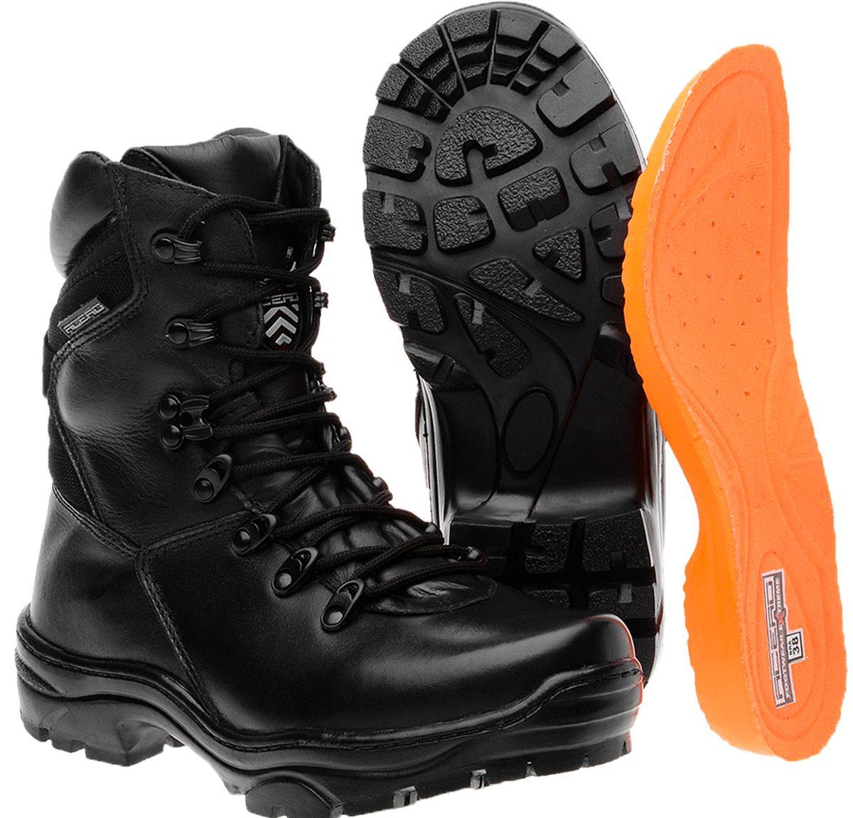 bota masculina coturno cano médio militar couro acero dhl. Carregando zoom. b60c51e6204