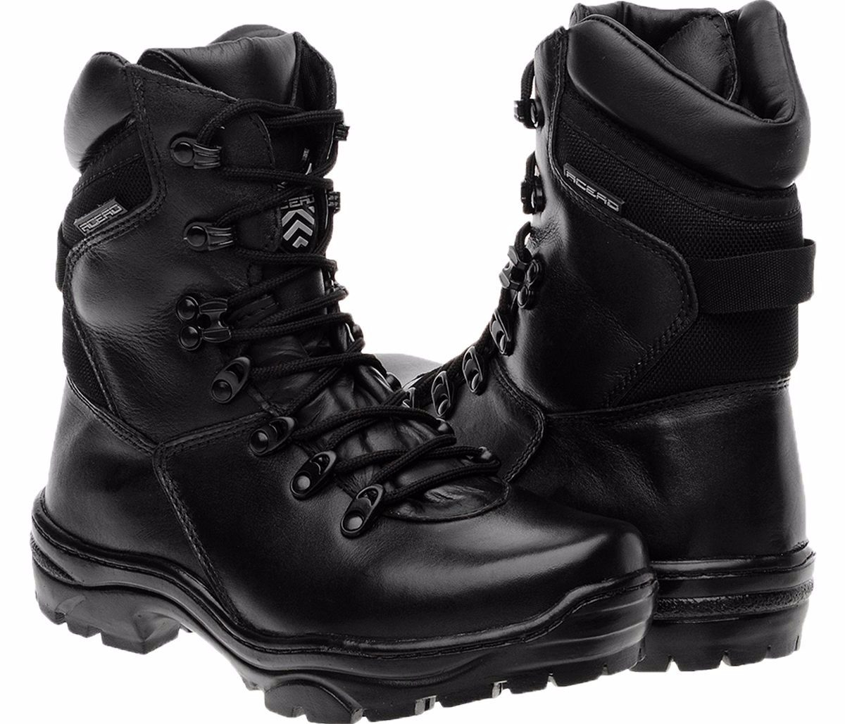 71324bb4b6 bota masculina coturno cano médio militar couro acero dhl. Carregando zoom.