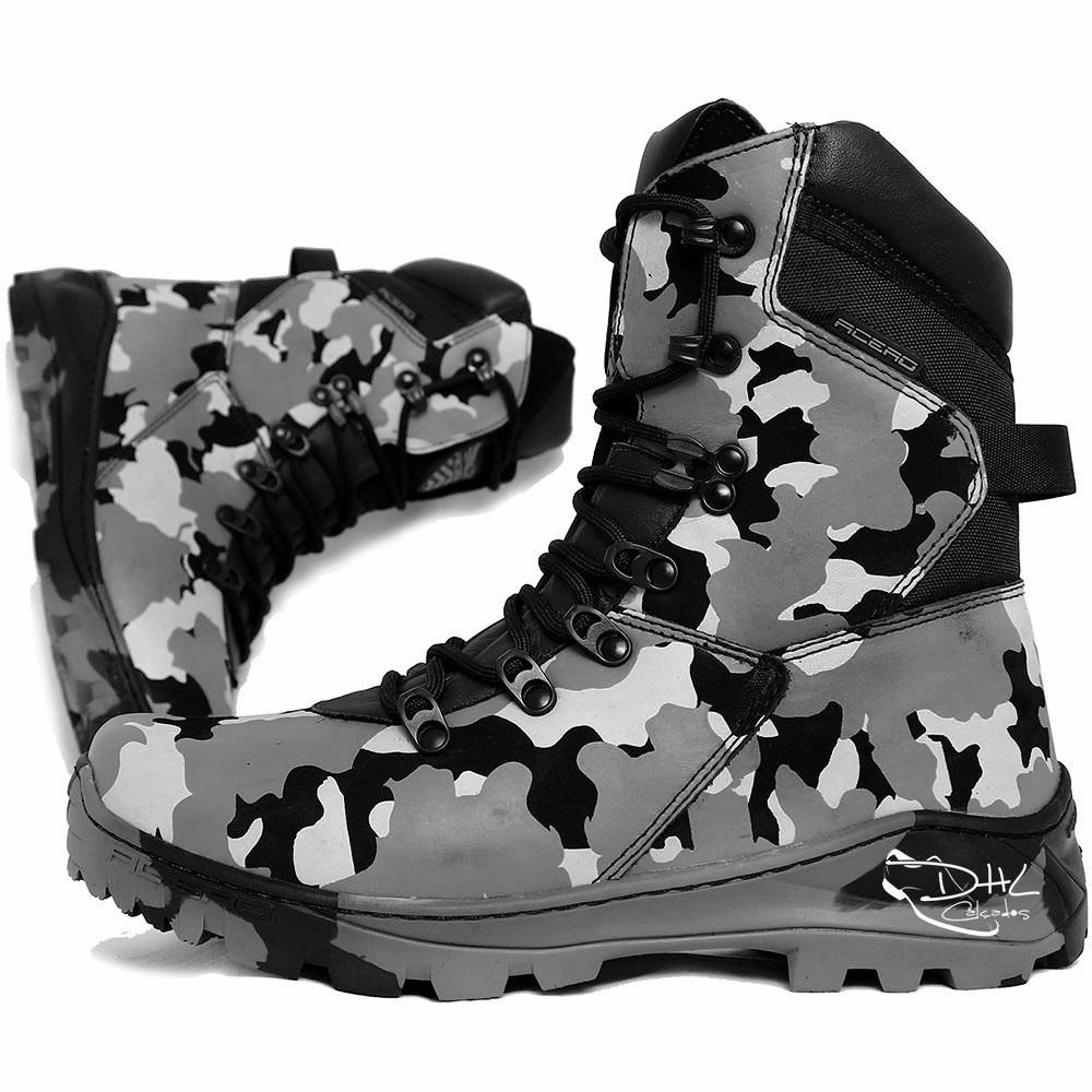 e8c3649a40 bota masculina coturno cano médio militar couro dhl calçados. Carregando  zoom.