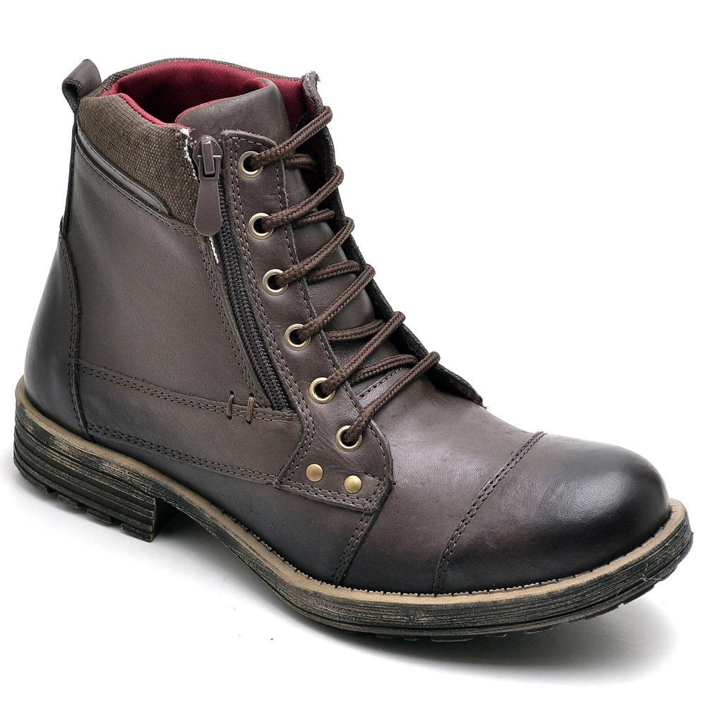 b77bbc7ef6 bota masculina coturno casual preta couro cano alto. Carregando zoom.