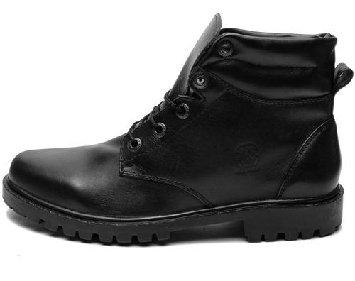 bota masculina coturno tático estilo americano em couro