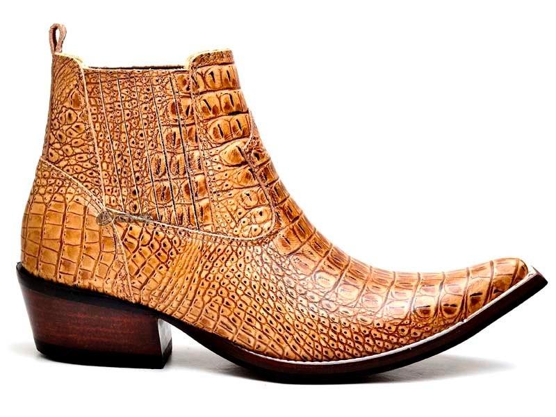 38bf2dfaecc0e bota masculina country botina texana bico fino jacaré couro. Carregando  zoom.