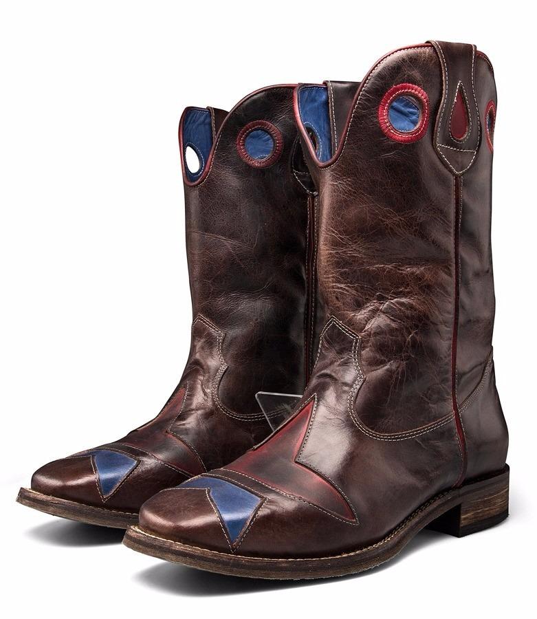 bea003bff4b4c bota masculina country cano alto botina bico quadrado couro. Carregando zoom .