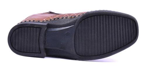bota masculina country escamada couro texana peão zíper