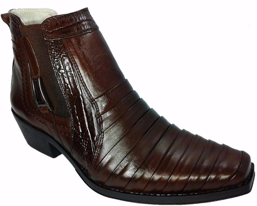 bota masculina country texana rodeio peão 100% couro. Carregando zoom. d7508f6115e