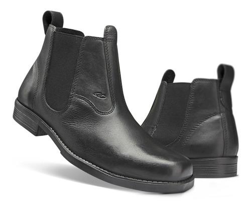 bota masculina couro botina texana country preta promoção