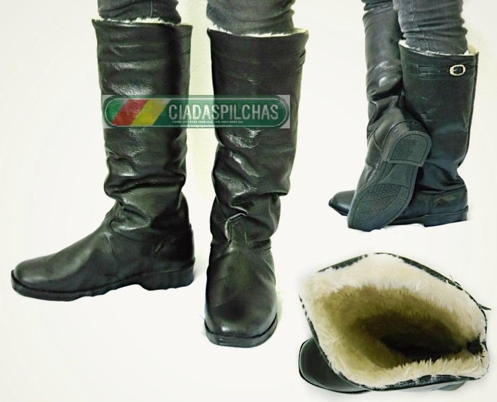 aa7cf2b576 bota masculina couro cano alto forrada p  frio sola borracha. Carregando  zoom.