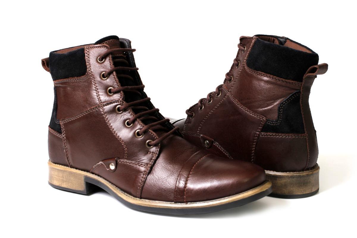 8dff0063c91 bota masculina couro legitimo cano alto top inverno oferta! Carregando zoom.