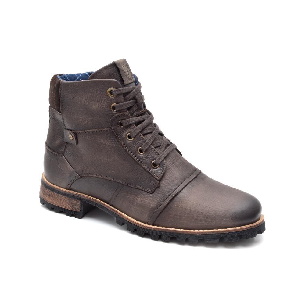 1b7166bfc9 bota masculina em couro fork saara 9172-1 marrom. Carregando zoom.