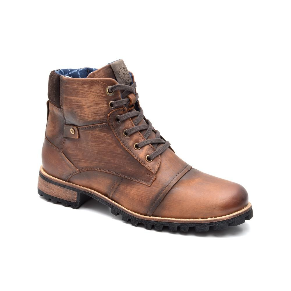 bd0d474c17 bota masculina em couro fork saara 9172-2 marrom. Carregando zoom.