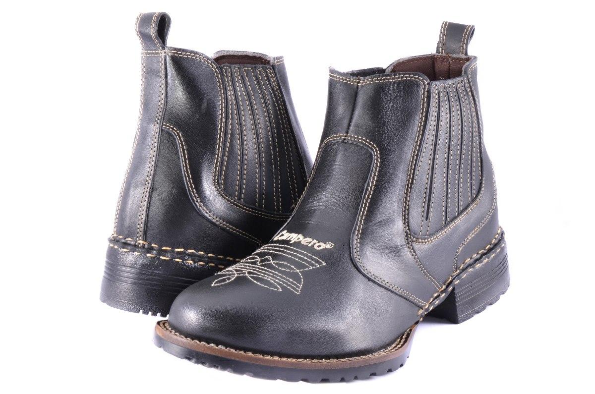782b35115d bota masculina preta couro country peão floral elástico. Carregando zoom.