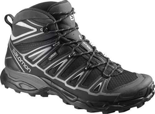 bota masculina salomon -  x ultra mid 2 gtx m negro - hiking