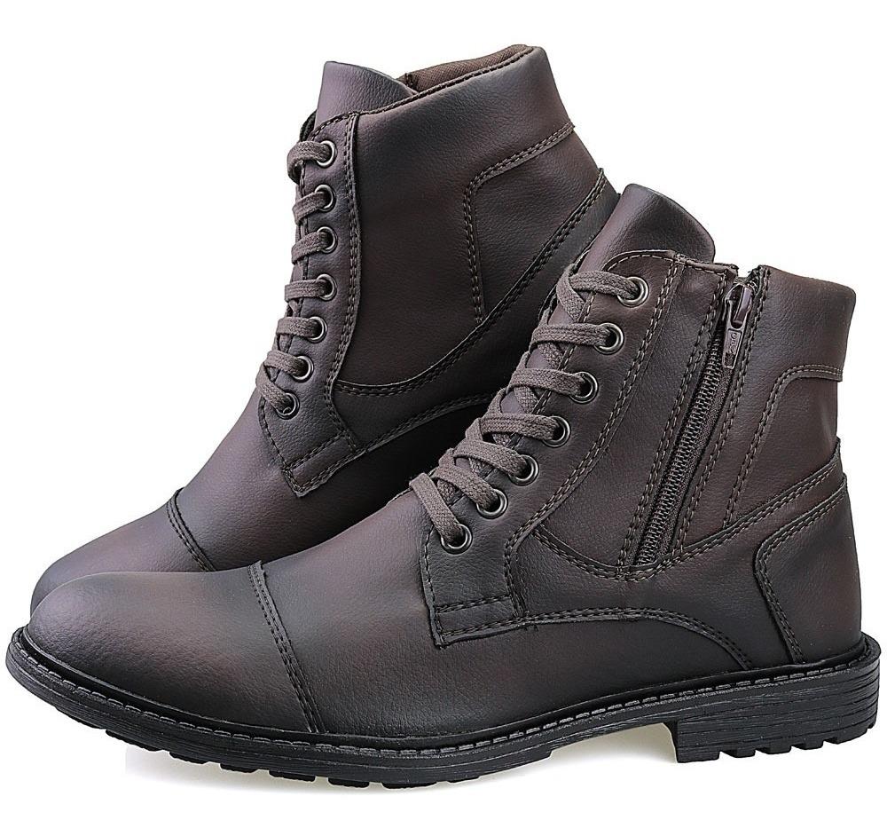 39ffe67775 bota masculina sapato coturno casual super leve c/ziper. Carregando zoom.