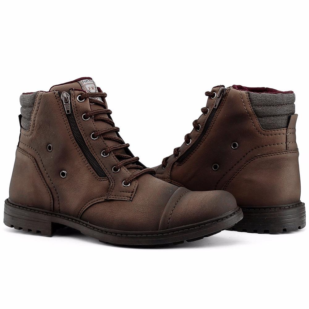 55460a63dd8 bota masculina sapato coturno casual super leve c ziper. Carregando zoom.