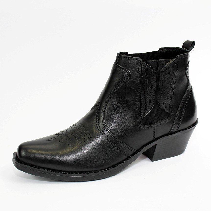 bota masculina semi country vaqueiro couro legitimo v03. Carregando zoom. 5a3319a1306