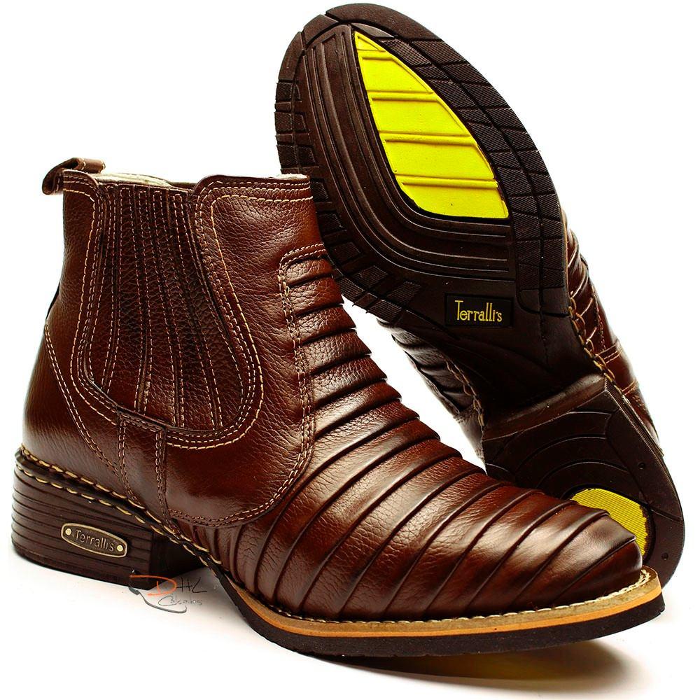 ... bota masculina tatu peão boiadeiro rodeio hipismo cavalo dhl. Carregando  zoom. 075e653c1ce4f5  Bota Couro Legitimo ... 5b5f1cd997c