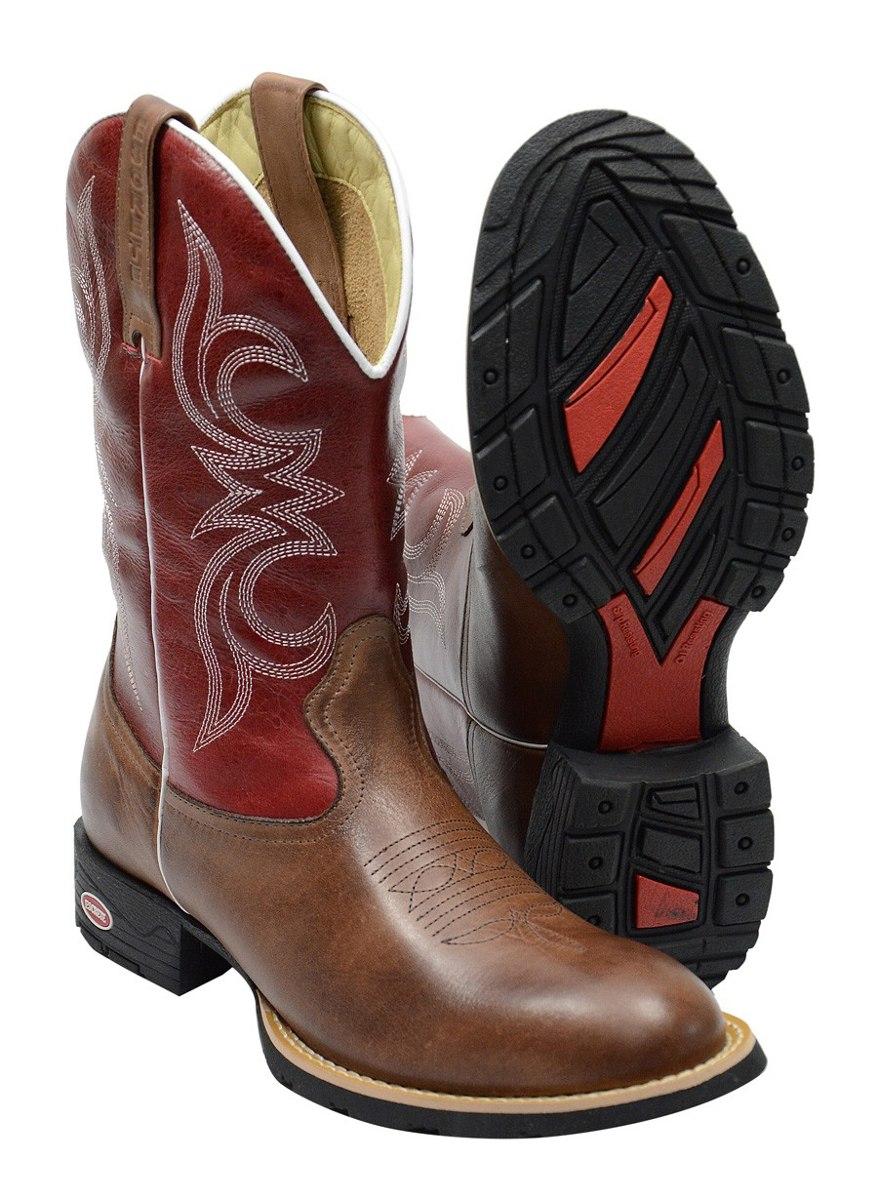 bota masculina texana 100% couro rodeio peão sertanejo boiad. Carregando  zoom. f078912b2ef