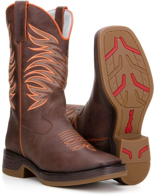 Bota Masculina Texana Bico Quadrado Country Couro 4country - R  319 ... 1546461cf1e