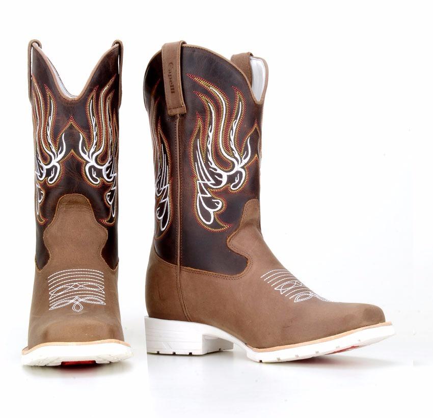 538dc75f6 bota masculina texana country solado branco capelli boots 02. Carregando  zoom.