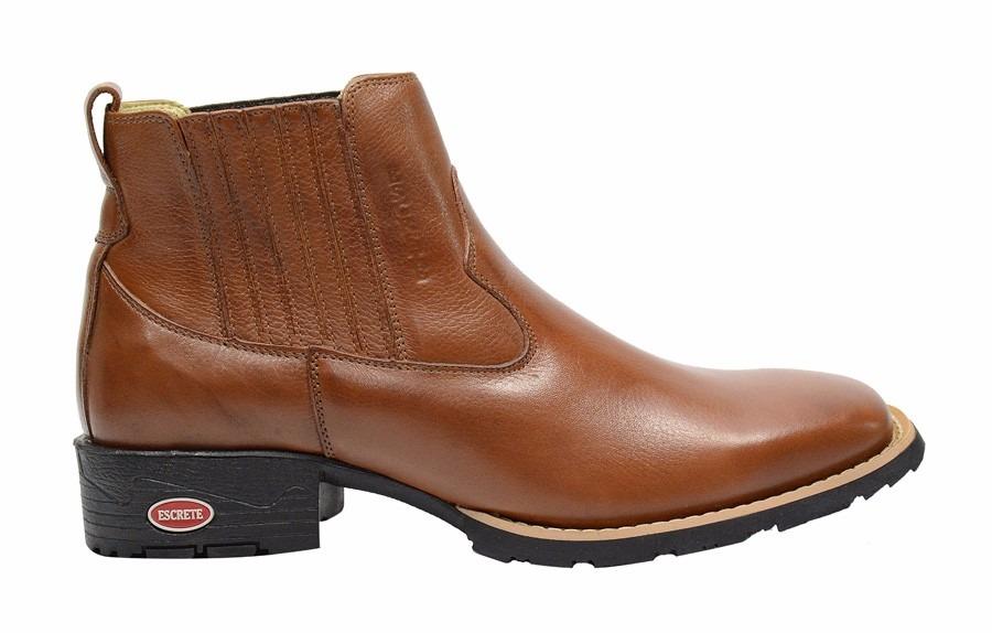 ... bota masculina texana couro moderno cano curto bico quadrado.  Carregando zoom. d8b37c9a2cf3c