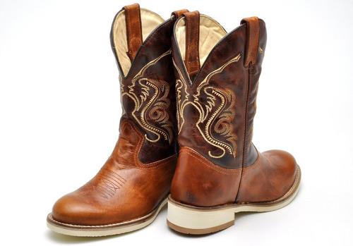 bota masculina texana sola branca roper trilha country :