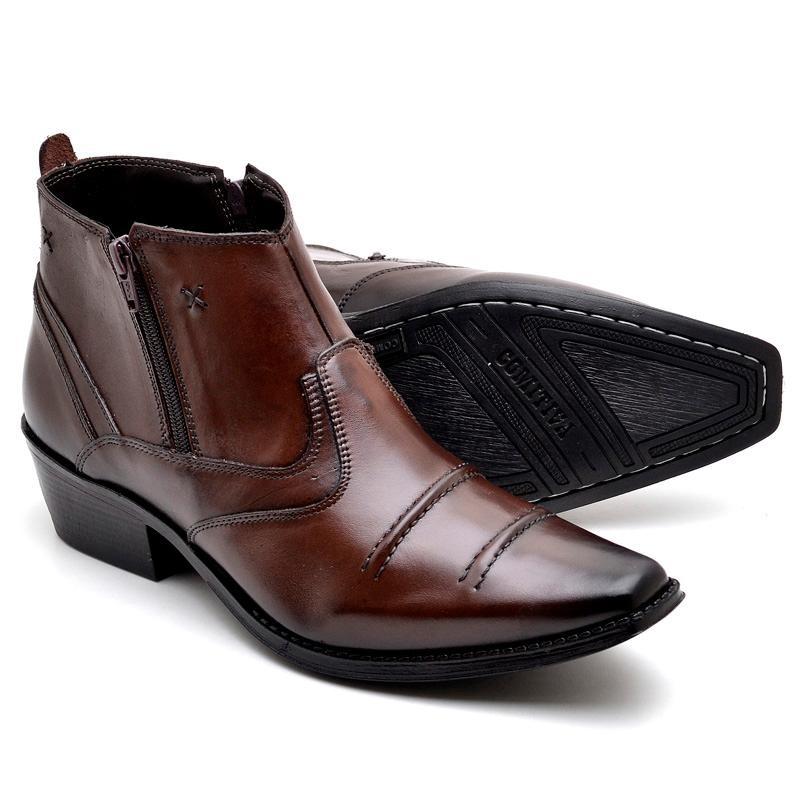 3c4a5d91eb bota masculina texas em couro legítimo reta oposta bico fino. Carregando  zoom.