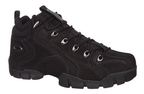 bota masculino flak 1 mid 2 oakley cano médio couro tênis