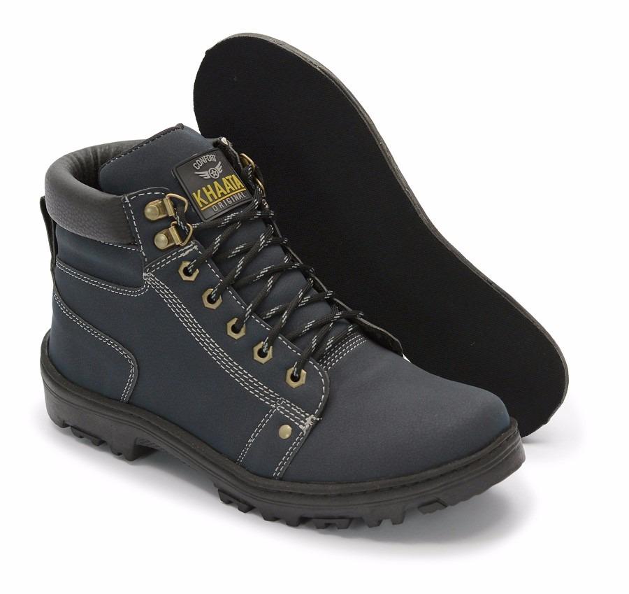 4cab1a316104b Carregando zoom... sapato coturno bota masculino adventure social azul  marinho