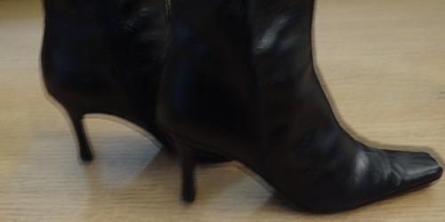 bota media caña senso unico milano cuero negro - numero 37